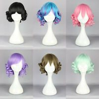 2019 New Short Long Curly Wavy Hair Full Wigs Harajuku Anime Cosplay Party Wigs
