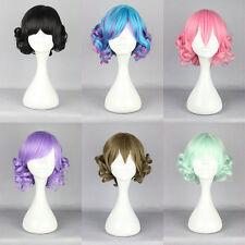 Fashion short Long Curly Wavy Hair Full Wigs Harajuku Anime Cosplay Party Wig