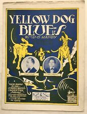 1919 BLACK SONGWRITER sheet music YELLOW DOG BLUES publ. PACE & HANDY