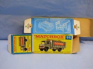 ORIGINAL VINTAGE EMPTY MATCHBOX BOX FOR SCAFFOLDING TRUCK 11 MERCEDES TRUCK