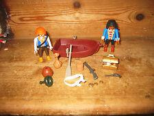 PLAYMOBIL Pirati Barca Canottaggio petto MONETE PISTOLE vasi barili Play Figura Bagno Divertente