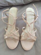 Joanne Mercer Nude Patent Strappy Heels Size 39