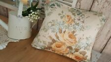 Vintage Sanderson chintz roses plump cushion  shabby *cottage* romantic