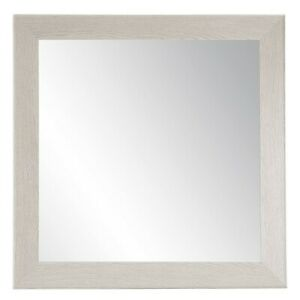 BrandtWorks Farmhouse Gray Wood Grain Square Wall Mirror, 32'' x 32'' - BM077SQ