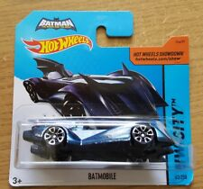 HOT WHEELS Batman il Grassetto Blu BATMOBILE Breve Carta Blu 63/250 NUOVO