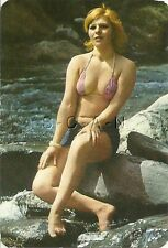 1977 Spanish Semi Nude Pin Up Calendar- Blond at the Beach- Bikini Top- Cutoffs