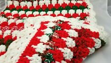 Handmade Crochet Afghan Knit Throw Christmas  Quilt Couch Bed Blanket