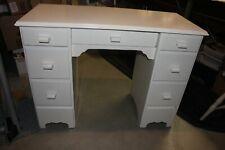 Vintage Solid Wood Desk Painted White