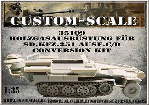 35109 Holzgasausrüstung Für Sd.Kfz.251 Ausf. C/D Conversion Kit Customscale 1:35
