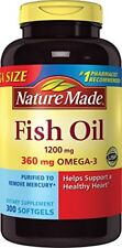Nature Made 1200mg Of Fish Oil Omega3 300 Softgels -Preorder