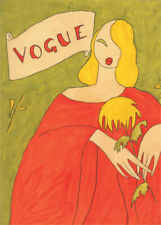 VOGUE POSTER EARLY ADVERTISING DESIGN - VERY NICE ART DECO STYLE EDITION PRINT