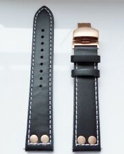 Genuine Leather 20mm with safety rivets brand new watch strap