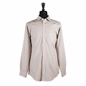Brooks Brothers Men's Button Up Shirt Long Sleeve Slim Fit Brown Striped 17 XL