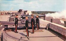 Firing the Cannon at Fort Henry Kingston Ontario Canada Postcard PM 1960