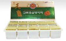 100PCS Korean Red Ginseng Extract Ganoderma Lucidum Healthy TEA Gift Set vee