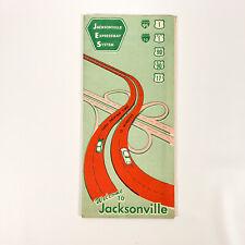 1950s Jacksonville Expressway System Road Map Flroida FL Vintage Travel