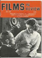 FILMS IN REVIEW MAY 1985:JOHN GARFIELD/MYRNA LOY/JAMES WHALE/BLOOD SIMPLE/RATING