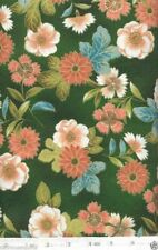 Silk Road Metallic GREEN Floral  Quilt Fabric - 1 Yard