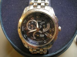 Citizen Eco-Drive Perpetual Calendar Wristwatch WR 100, calibre 8700, GN-4W-S