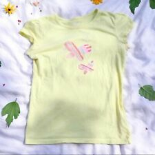 Circo Yellow Butterfly Graphic Tee Girls Size XL