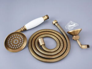 Antique Brass Hand Held Shower Head / Shower Hose / shower Bracket fhh114
