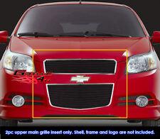 Fits T255 Chevy Aveo 5 Door Hatchback Black Billet Grill Insert-Fits 2009-2011