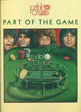 "PABLO CRUISE ""PART OF THE GAME"" PIANO/VOCAL/GUITAR MUSIC BOOK RARE ON SALE!!"