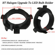 2X H7 LED Headlight Bulb Retainer Holder Adapter Socket for KIA Hyundai Sorento