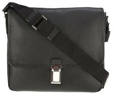 NEW PRADA MEN'S BLACK SOFT CALF LEATHER CITY MESSENGER CROSSBODY BAG 2VD054