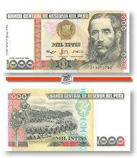 Peru 1000 Intis 1988 Xf Replacement prefix Z suffix Z  , Banknote24