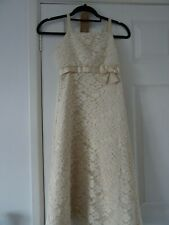 lovely cream bridesmaid dress age 10,also a adult strapless dress in same design