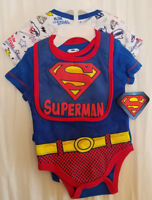 PERSONALIZED BIBS BABY BIB SUPERMAN SUPERGIRL LG Heavy BLUE or PINK COTTON TERRY