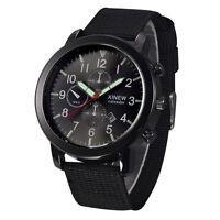 Herren Militär Edelstahl Datum Quartz Sportuhr Armbanduhren Täglich-wasserd U8N8