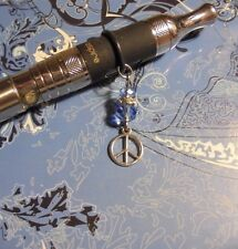 Peace Sign Crystal Vape Charm~Vapor Charm E Cig~Smoker Pen