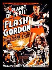 Flash Gordon planeta de peligro Crabbe Sci Fi EE. UU. impresión arte cartel de serie CC6392