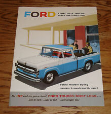1957 Ford Light Duty Truck F-100 F-250 F-350 Sales Brochure 57