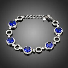 18K Gold GP Made With Swarovski Crystal Elements Green Round Bangle Bracelet
