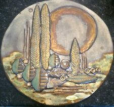 Otto Keramik West German Pottery Round Wall Plaque picture