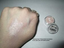 """Diamond Dust"" Mineral Mica Powder Eye Shadow~Sheer silvery pink w/sparkle~Vegan"