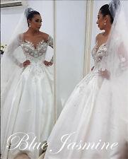 New Sexy Custom Made A-Line Wedding Dress Bridal Gown Custom Made Plus Size 2-28