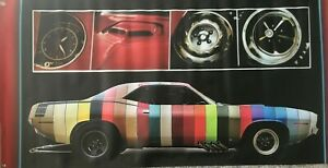 1970 Plymouth Cuda Colors Offered, Options 2'X4' Vinyl Banner.