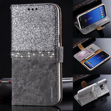Bling Diamond Leather Magnetic Flip Wallet Case Cover For Samsung Galaxy S9 Plus