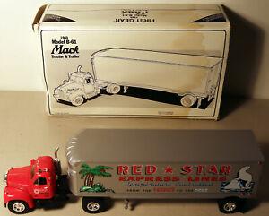 DTE 1:34 FIRST GEAR # 19-1510 RED STAR EXPRESS B MACK TRACTOR TRAILER TRUCK NIOB