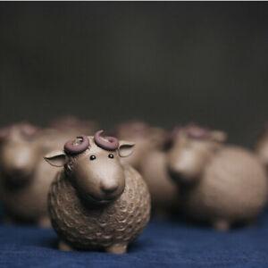 one piece creative tea pet coin sheep wealth bring yixing zisha qingshui clay