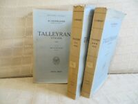 Talleyrand 1754-1838 par Lacour-Gayet chez Payot complet 3 volumes