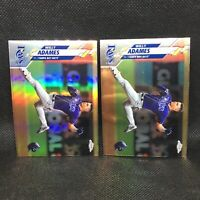 Lot (2) 2020 Topps Chrome Willy Adames Refractor & Base Tampa Bay Rays #179