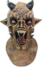 Halloween Costume DEVIL DEMON W/ HORNS NIGHTMARE LATEX DELUXE MASK Haunted House