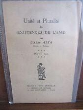 Unité et Pluralité des existences de l'ame par L'Abbé Alta/Hector & Henri Durvil