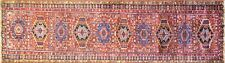 "3'3"" x 14'8"" Antique Karajah Heriz, Serapi Runner, Excellent . #16921"