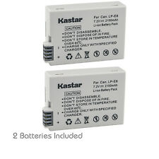 Kastar 2Pack Battery for Genuine OEM Canon LP-E8 Rebel T2i T3i T4i T5i 550D 600D